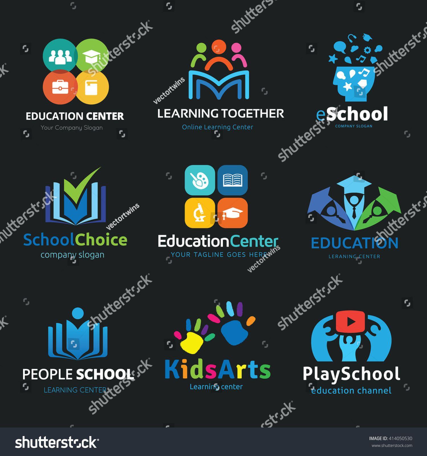 Education Logo Set Design For School Learning Creative Idea
