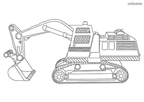 Dibujo De Maquina Retroexcavadora Para Colorear Dibujos De Policias Playmobil Dibujo Dibujos Para Colorear