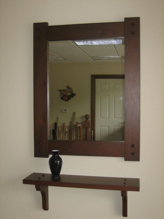 Easy To Make Shelf Like This Mission Style Hall Mirror Shelf In