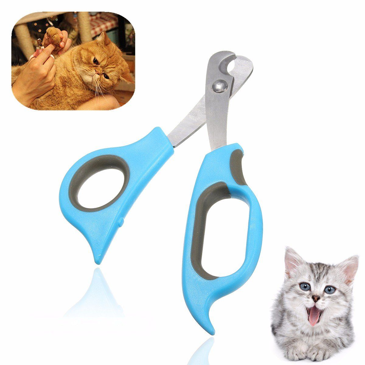Pet Dog Cat Rabbit Nail Clippers Trimmers Toe Paw Claw