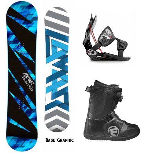 Lamar Hunter Complete Snowboard Package With Flow Flite 1