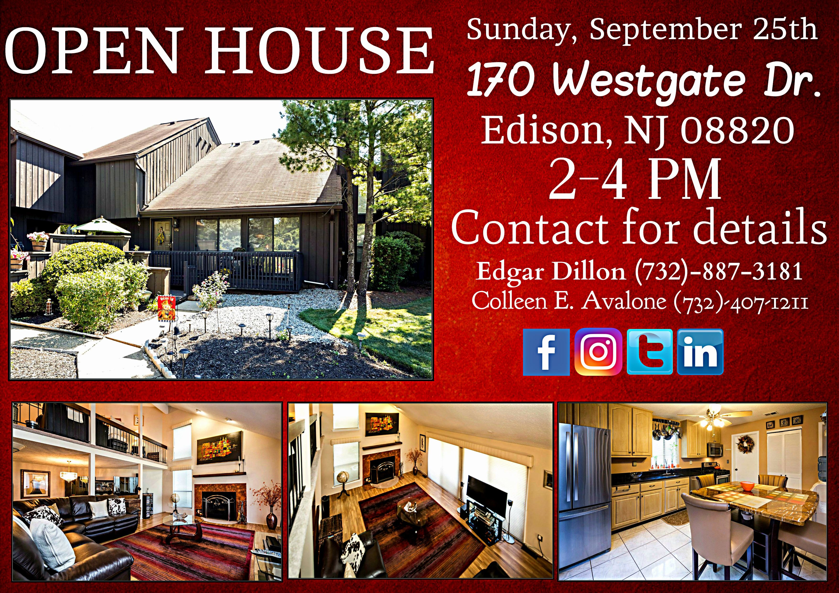 Open House This Sunday In Edison Nj Contact Me For Details