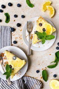 Lemon Blueberry Cheesecake for Two #lemonblueberrycheesecake
