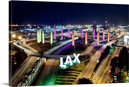 View With Neon Lights From Above Lax Airport Los Angeles California In 2020 Los Angeles Airport Los Angeles International Airport Los Angeles