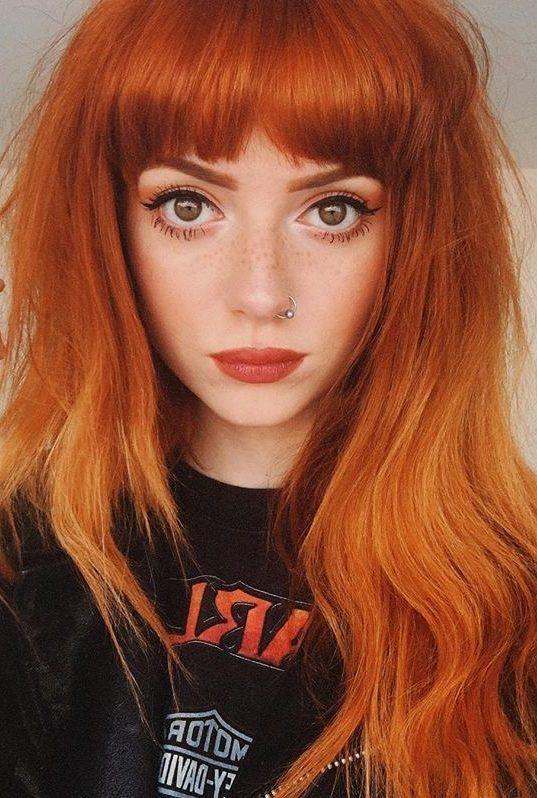 orange rött hår