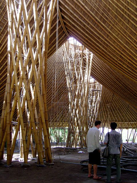 Bali Three Mountain Bamboo House Design Bamboo Architecture