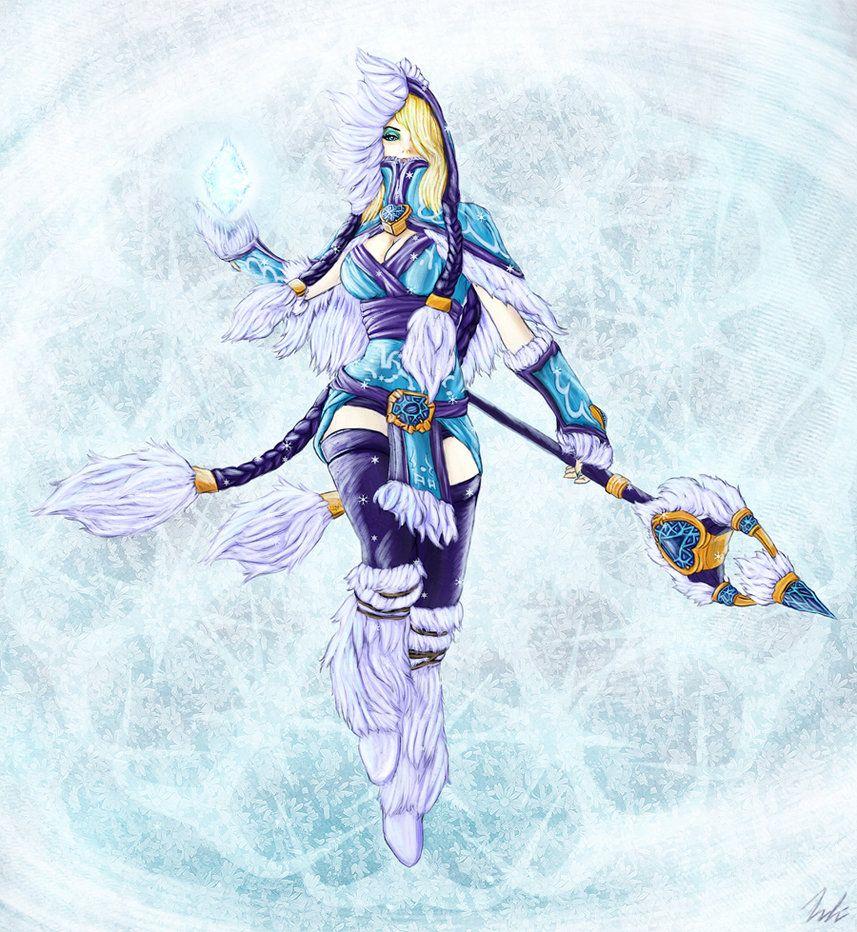 Crystal Maiden - Winter Snowdrop by *JBoden on deviantART