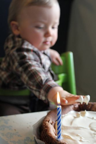 great perspective for first birthday