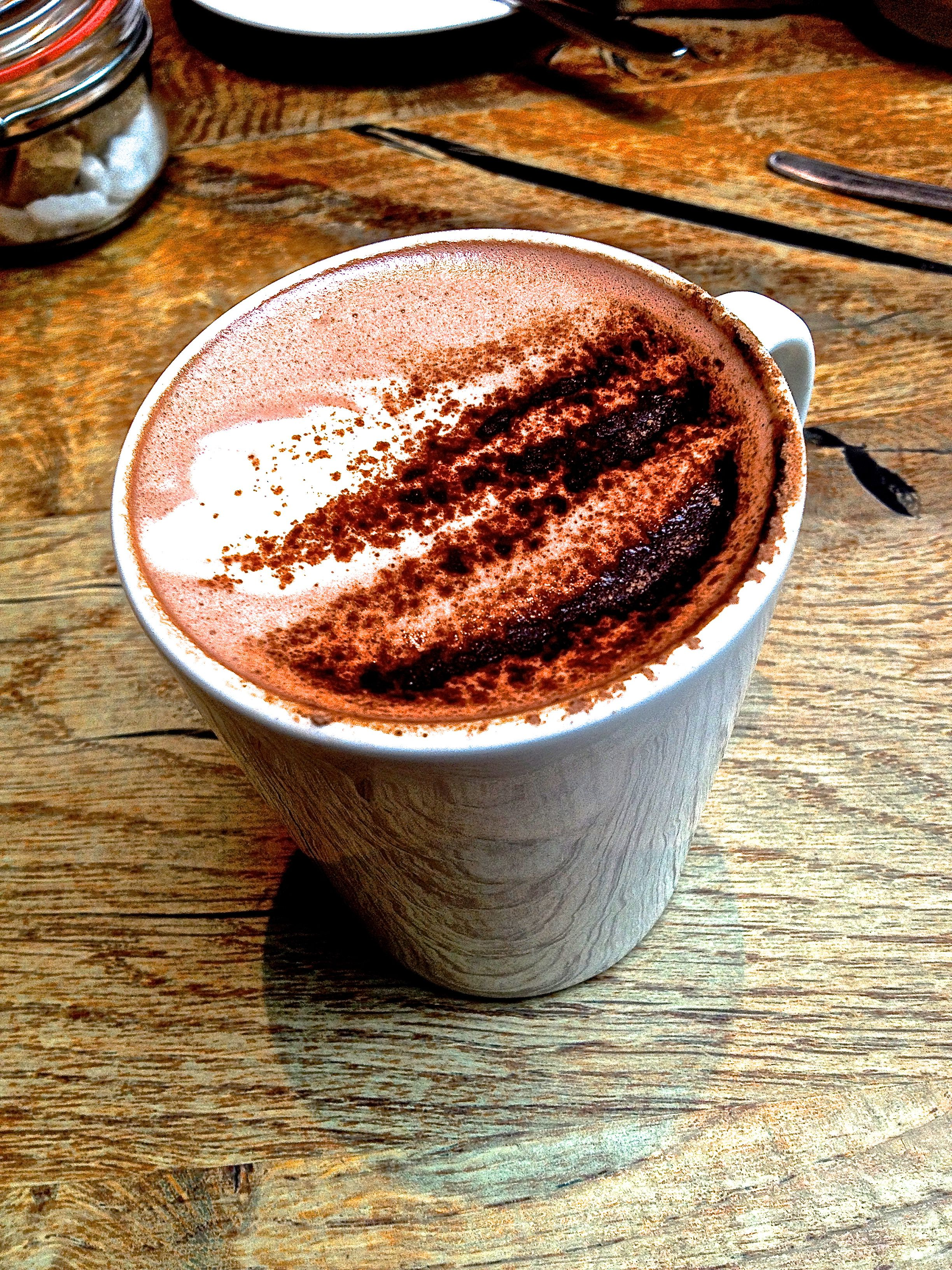 January 25th  After the tour ended, Riley and I were absolutely freezing from the wind and stopped by the cafe for a quick break.  My hot chocolate was amazing :)
