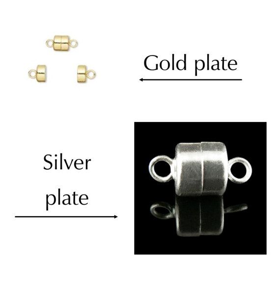 6 or 12 8 x 6mm barrel SUPER STRONG silver or gold plated brass magnetic clasps