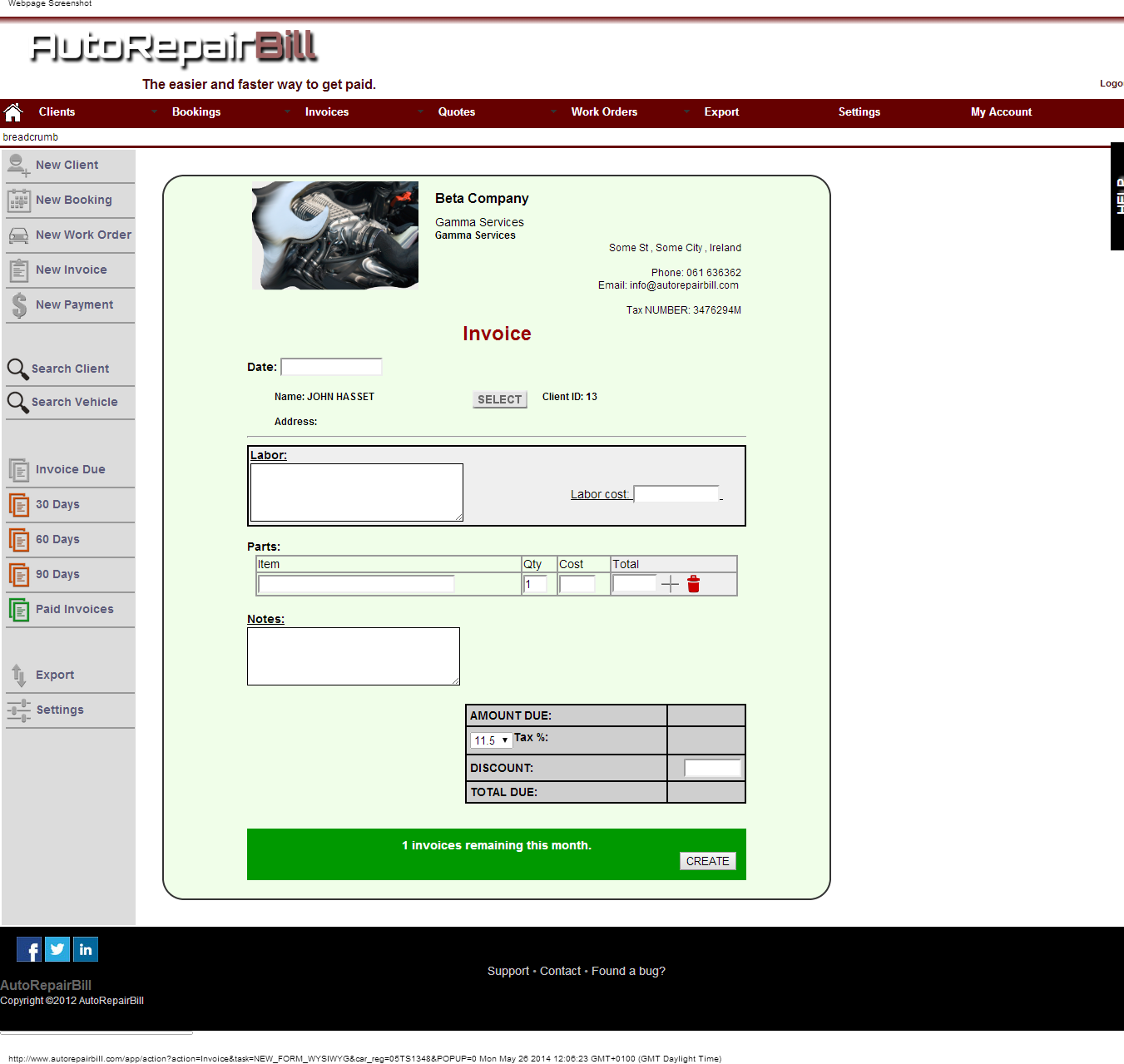 Auto Repair Invoice Software Software For Mechanics Automotive - Auto repair shop invoice software