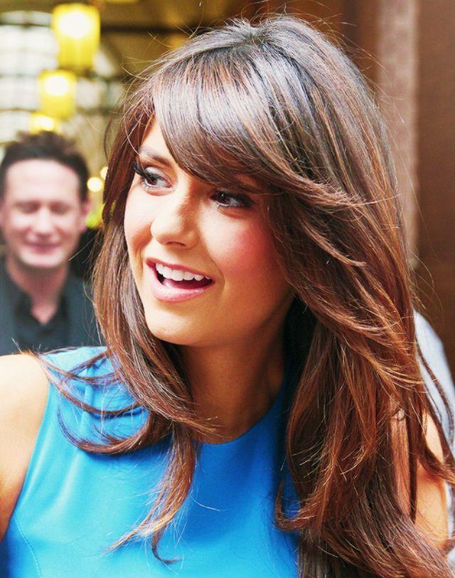Nina Dobrev New Bangs Nina Dobrev Hair Nina Dobrev Hair Hair Styles Hair Beauty