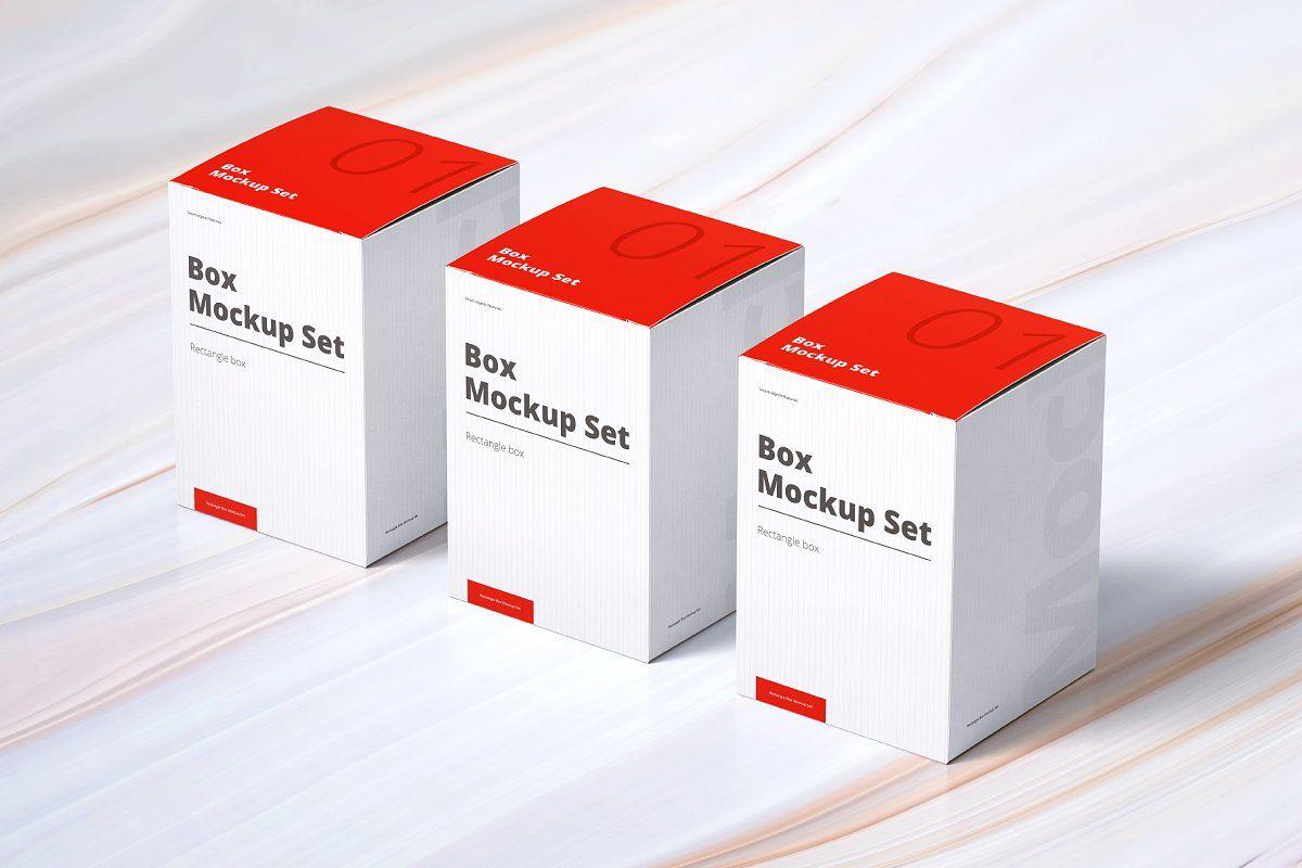 Download Box Mockup Set 01 Rectangle Box Mockup Typography Packaging Packaging Design Inspiration