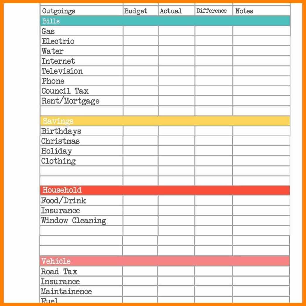 Wedding Budget Planner Spreadsheet In