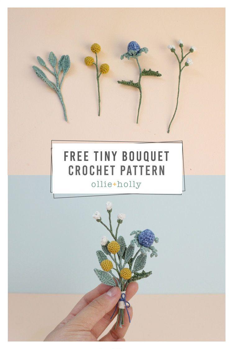 Free Tiny Flowers Bouquet Crochet Pattern – Ollie + Holly | Amigurumi Crochet Patterns