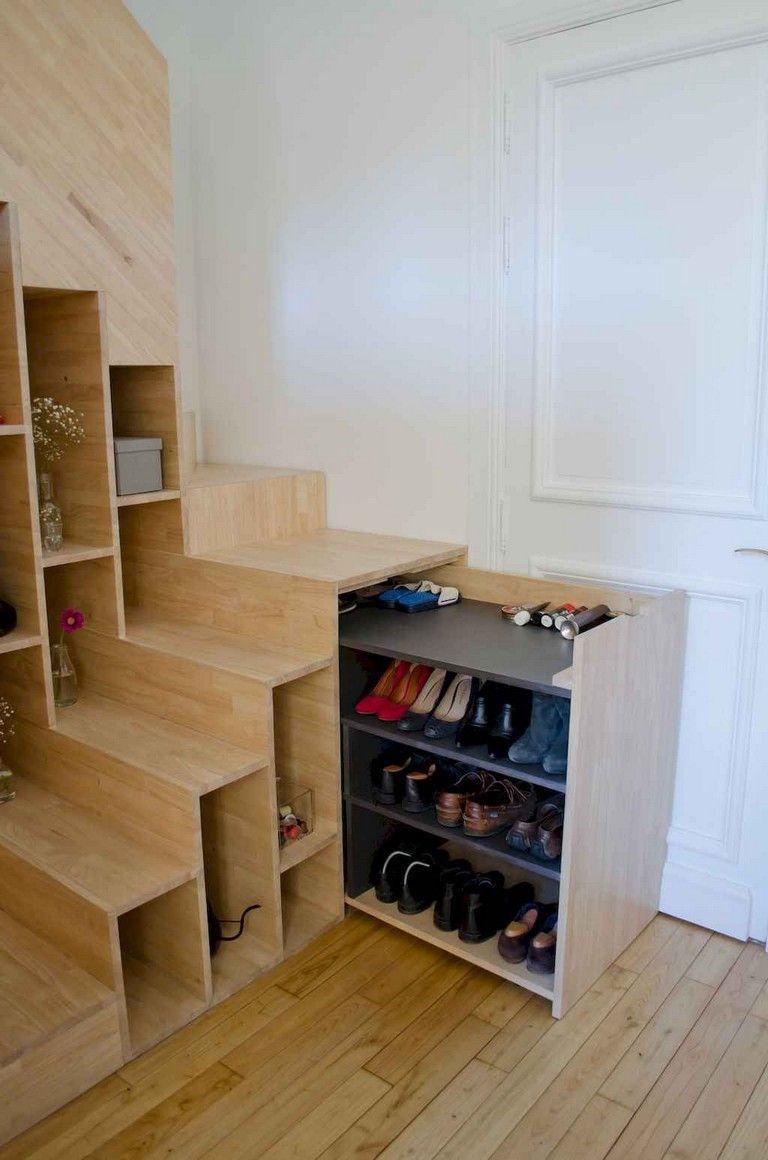77 inspiring tiny apartment shoe storage ideas on a budget rh pinterest com