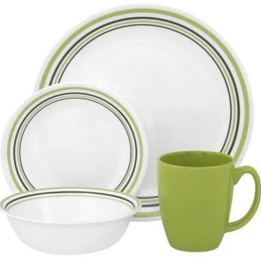 corelle dishes - like the green or plain white  sc 1 st  Pinterest & corelle dishes - like the green or plain white | In case you want to ...