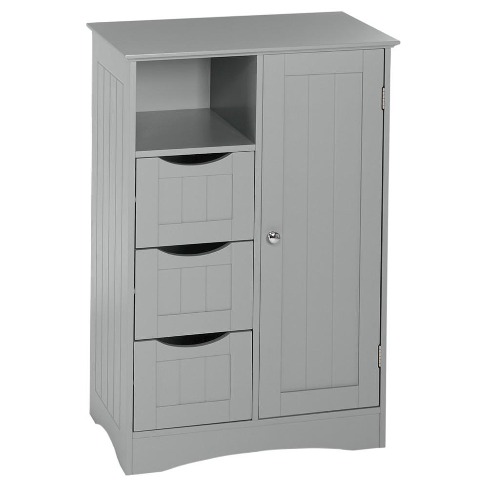 Ashland Collection 1 Door 3 Drawer Floor Cabinet Gray Riverridge Grey Bathroom Floor Storage Bathroom Floor Cabinets Bathroom Standing Cabinet