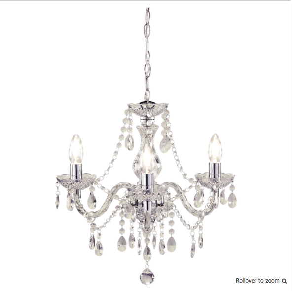 Marie therese chandelier 3 arm clear chandeliers arms and marie therese chandelier 3 arm clear mozeypictures Choice Image