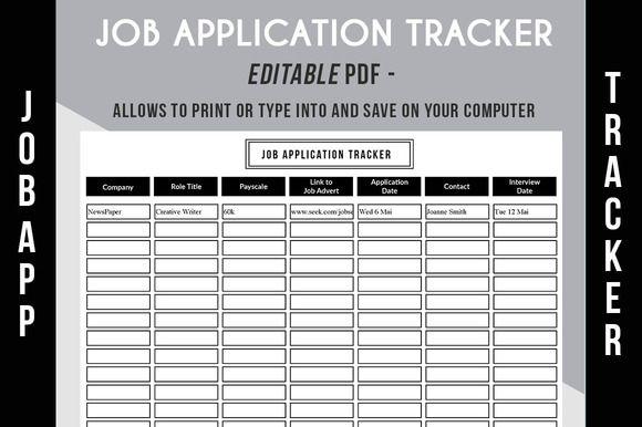 job application tracker pdf by graphicsauthor resume cv