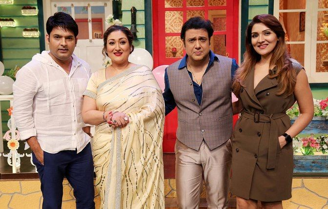 Image result for govinda and his wife in kapil sharma show