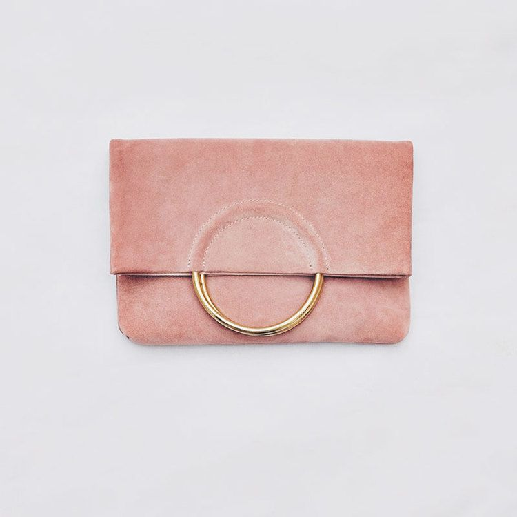 LAS SALINAS LARGE SUEDE CLUTCH - Ibiza Sunset