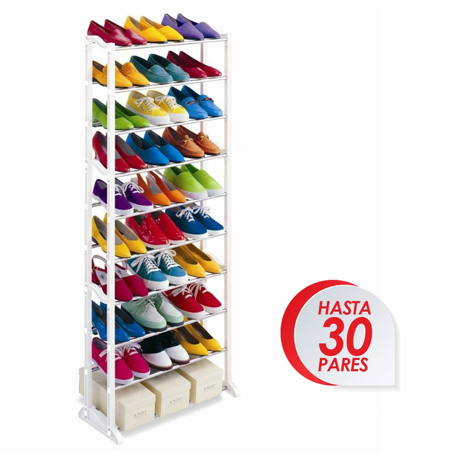 Zapatero 30 Pares Organizador De Zapatos Mueble Shoe Rack Garantia  # Muebles A Medida Ceuta