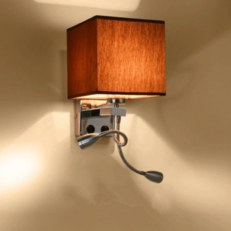 Find More Wall Lamps Information About Modern Lustre Led Wall Lamp Fabric Lampshade Bedroom Wall Sconce With Switch Modern Wall Lamp Wall Lamp Iron Wall Lamps