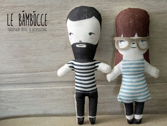Cloth dolls digitally printed looks like you -boy- man - gift
