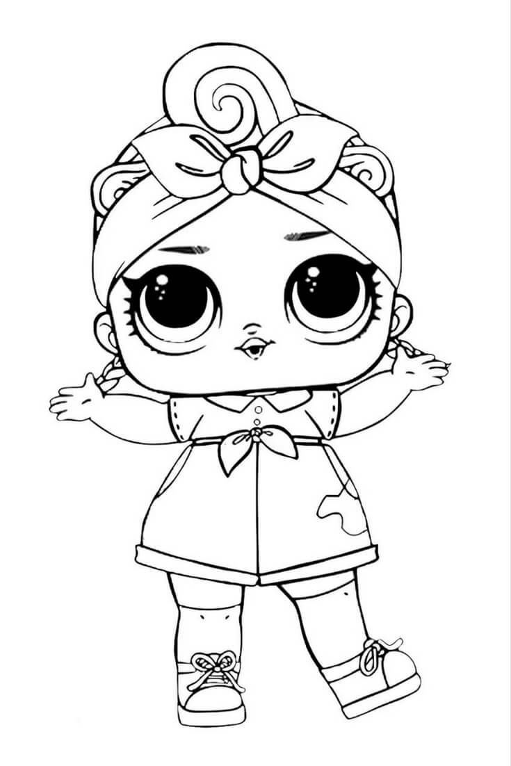Lol Suprise Doll Coloring Page Coloring Pages Pinterest