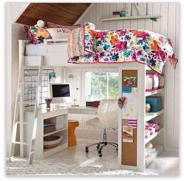 pottery barn teen sleepstudy loft pb teen loft bed - Coole Mdchen Schlafzimmer Mit Lofts
