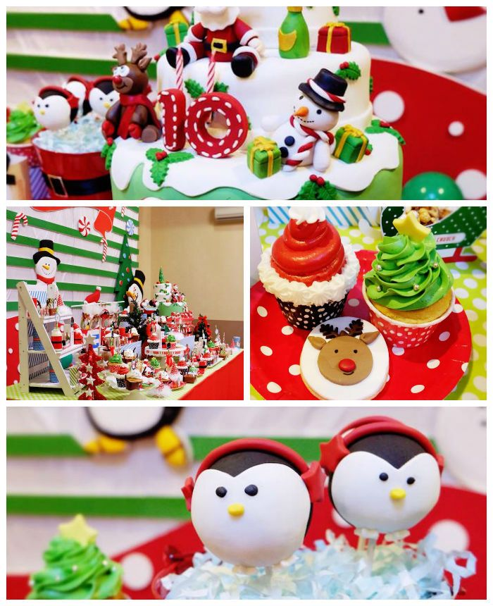 Christmas Birthday Party Ideas Part - 33: Christmas Themed 10th Birthday Party Via Karau0027s Party Ideas!