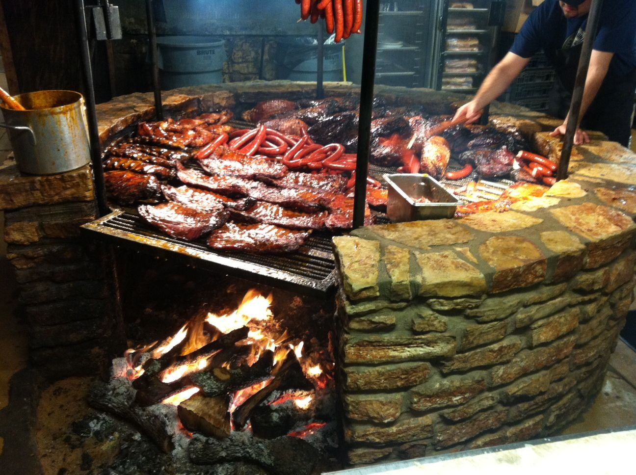 Open barbecue pit google search random pinterest for Cuisine outdoor