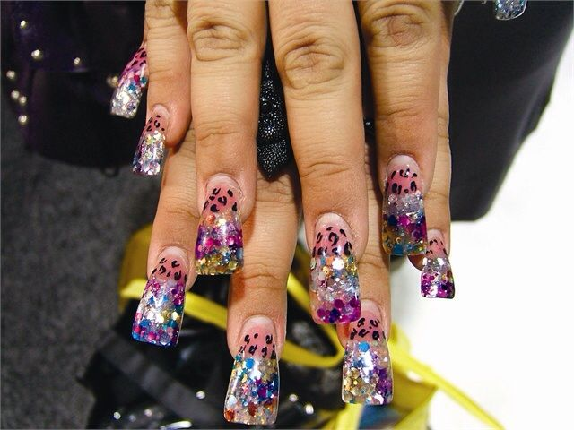 Colorful | acrylic nails, gel, acrylic, manicures, nail art 3d nails ...