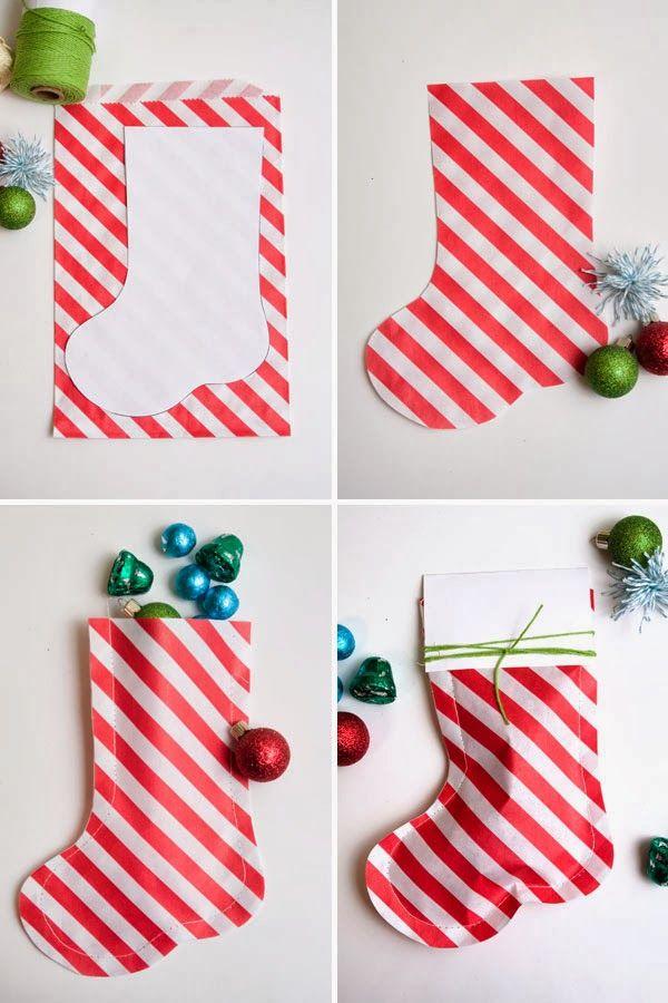 Como Decorar Calcetines Para Navidad.Como Hacer Calcetines De Papel Para Envolver Regalos