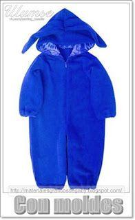 29f5b5193 Materiales gráficos Gaby: Enterito bebè con capucha en costura simple con  mo.