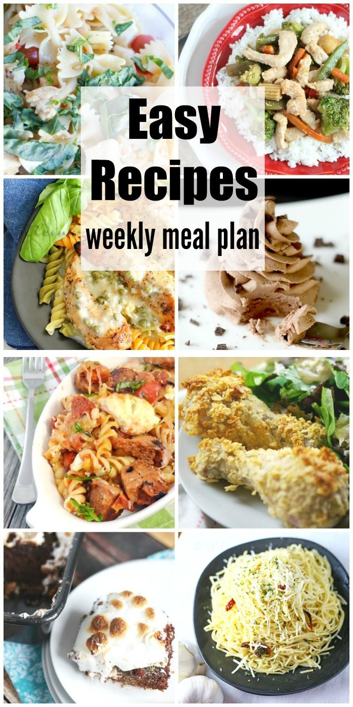 Easy Budget Friendly Spring Decorating: Easy Recipes Weekly Meal Plan Week 34 Simplifies
