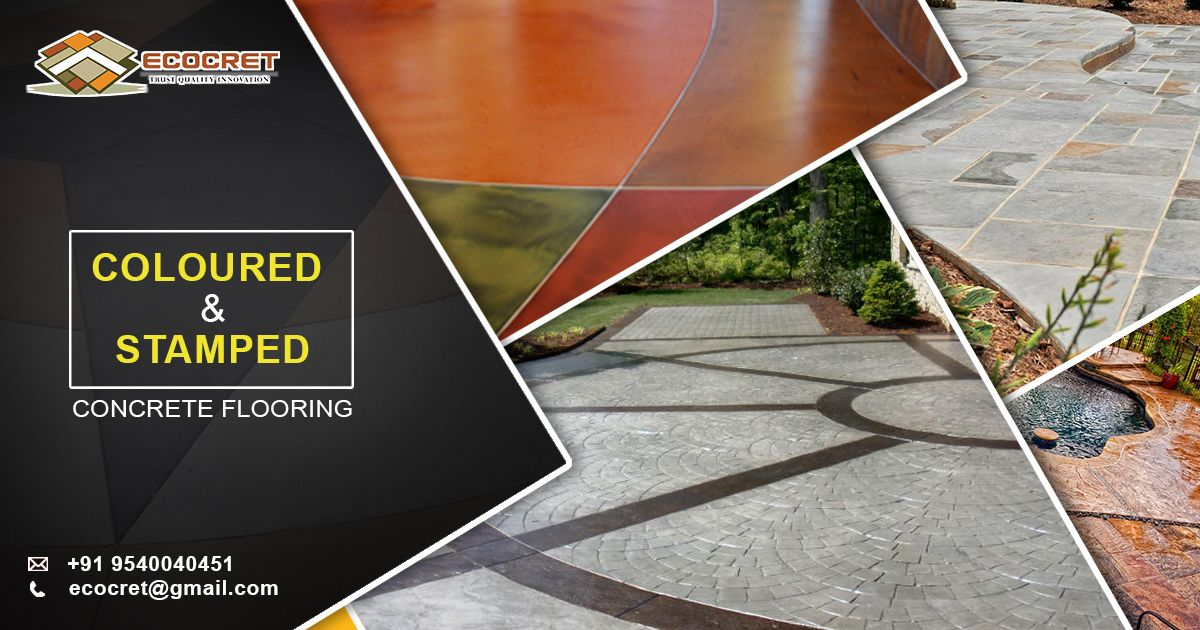 Coloured Concrete Coloured Concrete Flooring In Delhi Ncr Ecocret Colouredconcrete Colouredcon Decorative Concrete Floors Concrete Color Concrete Floors