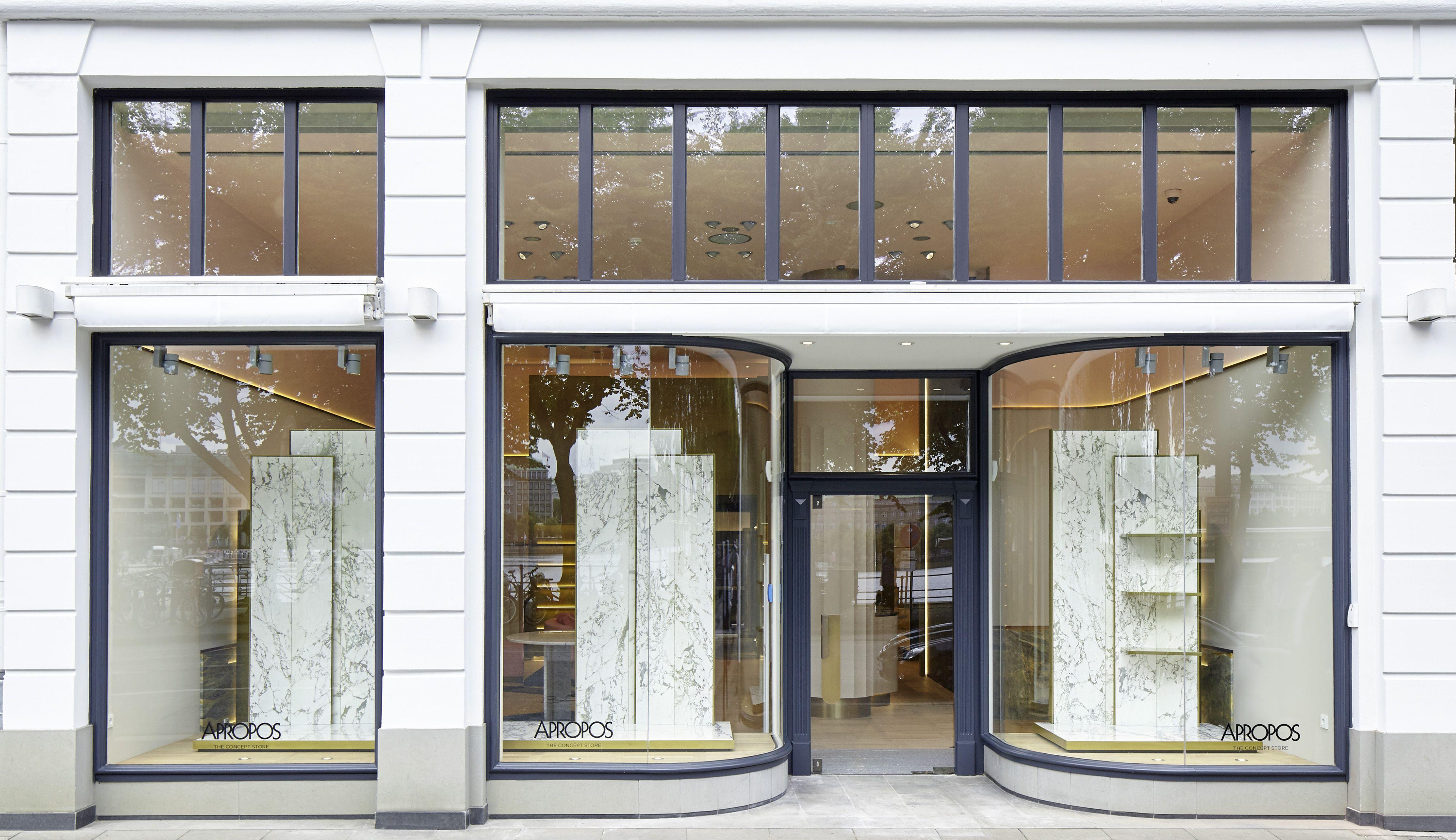 Concept Store Apropos Hamburg Men Flagship Shopwindow Retail Design By Rodolphe Parente Architecture Design Architecture Facade Boutique