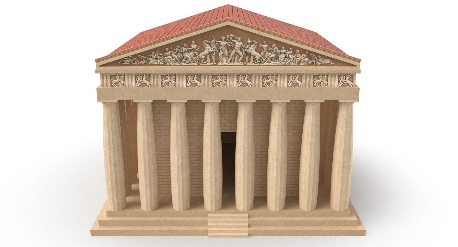 3d Parthenon Temple