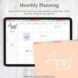 Digital Planner Goodnotes, Digital Life Planner, Landscape Digital Planner, iPad Planner, Tablet Planner