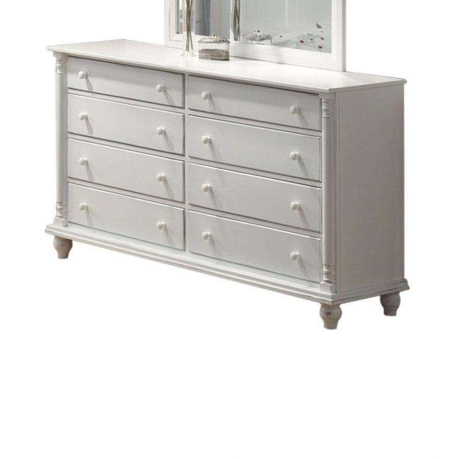 Coaster Fine Furniture Kayla White 8 Drawer Dresser Coasterfurniture