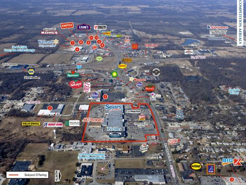 Time Square Mall Mt Vernon Il Leasing Brochure Aerial Site Plan