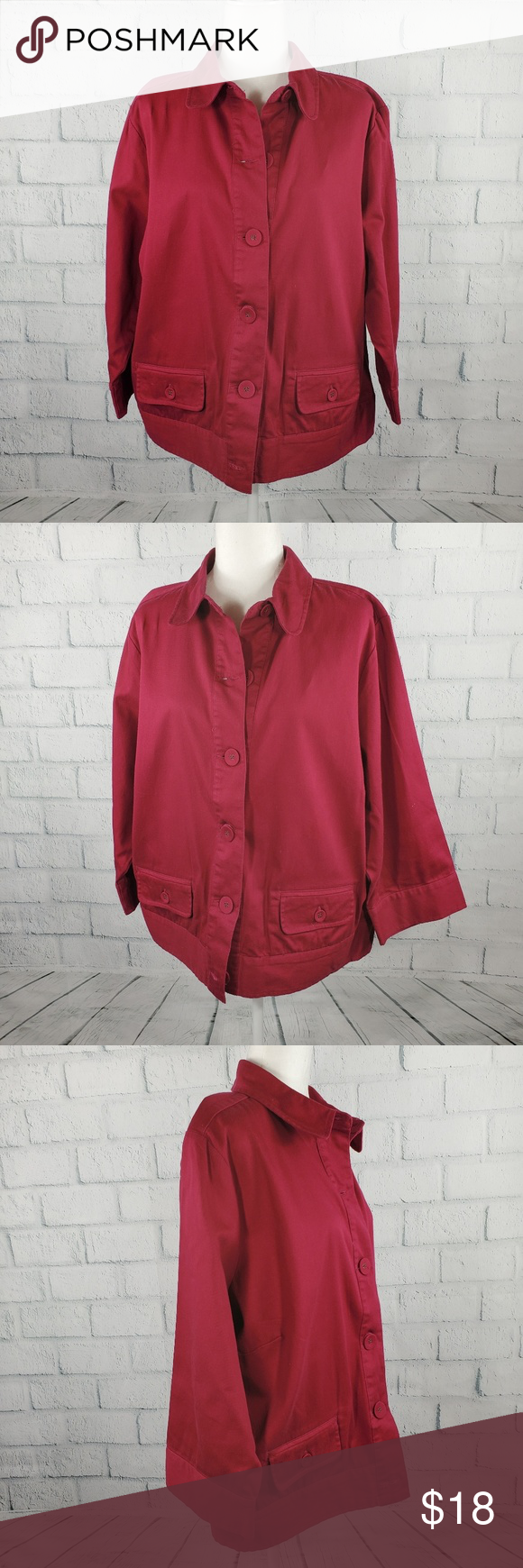 Architect Burgundy plus size button down jacket