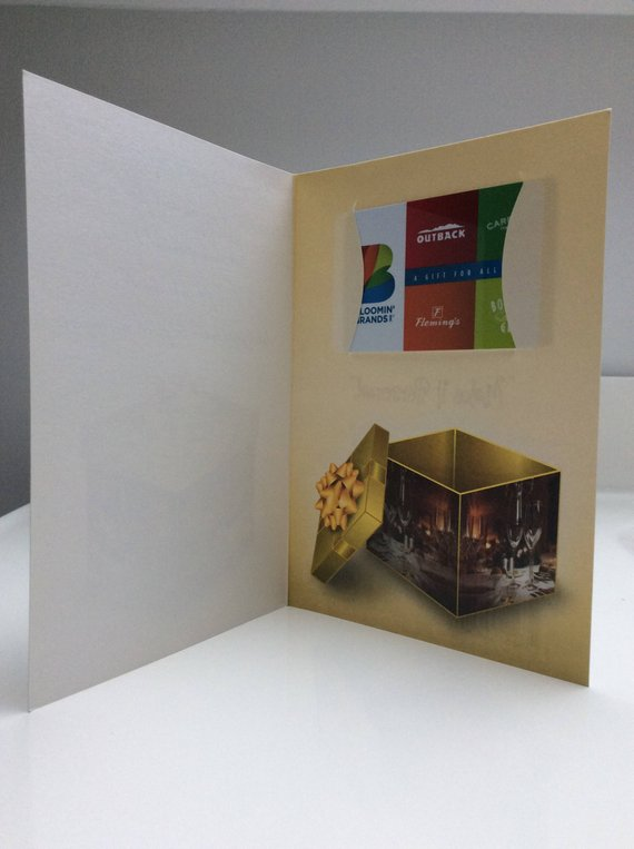 Restaurant Gift Card Holder Anniversary Birthday Holiday C