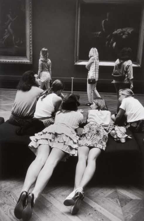 At the Louvre, Alécio de Andrade (1938 - 2003)