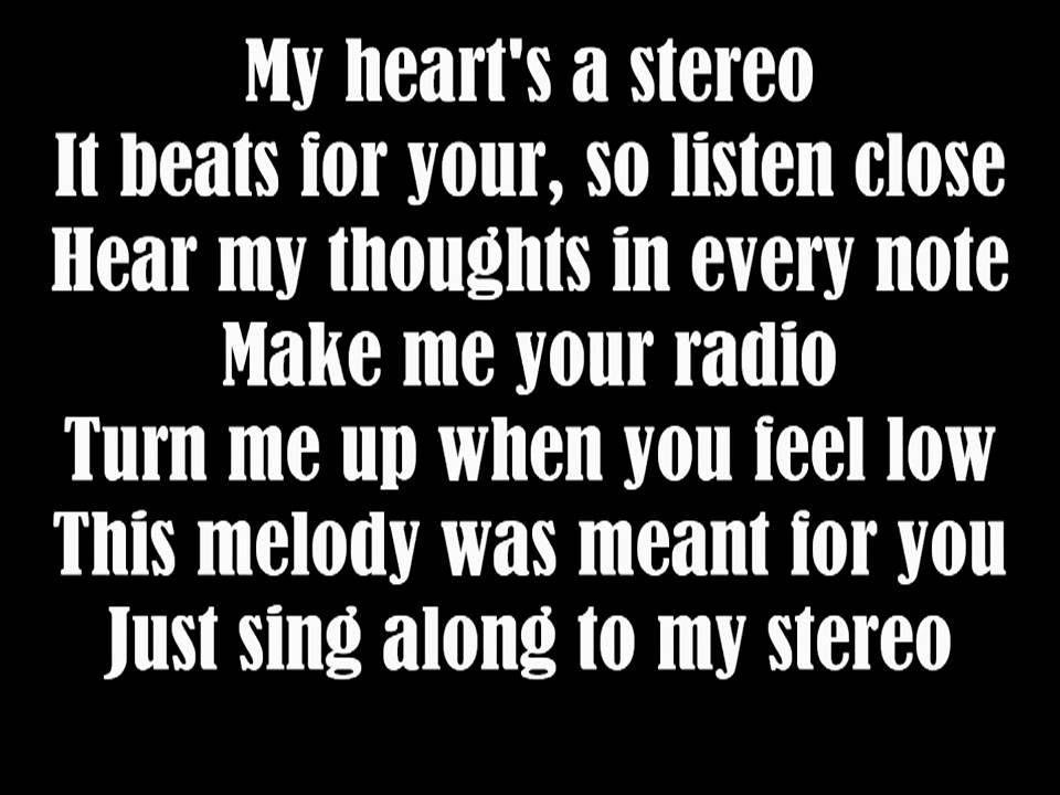 stereo hearts lyrics | Gym Class Heroes - Stereo Hearts (Lyrics) mp4