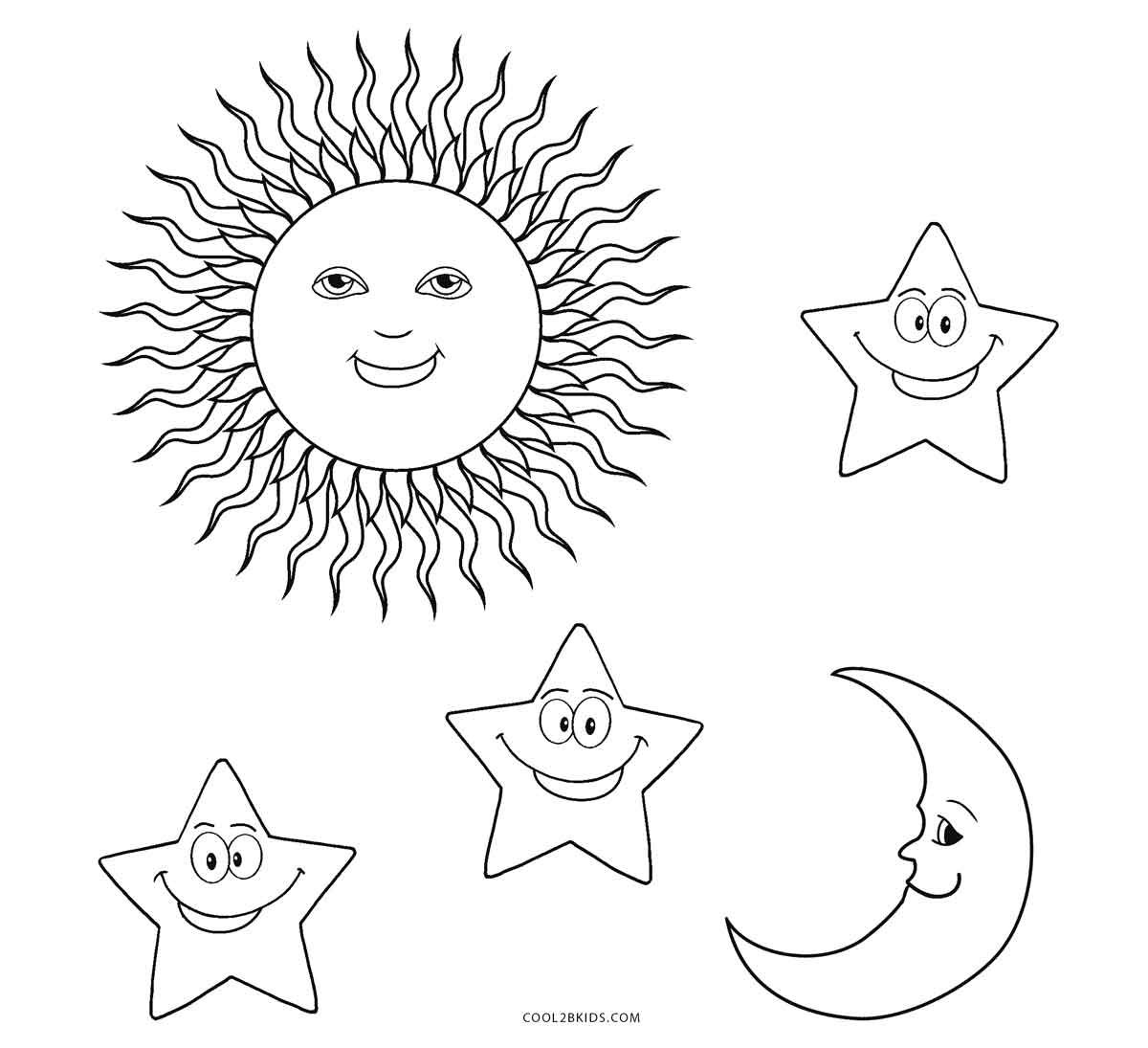 Coloring Pages Stars Sunnd Check More At S