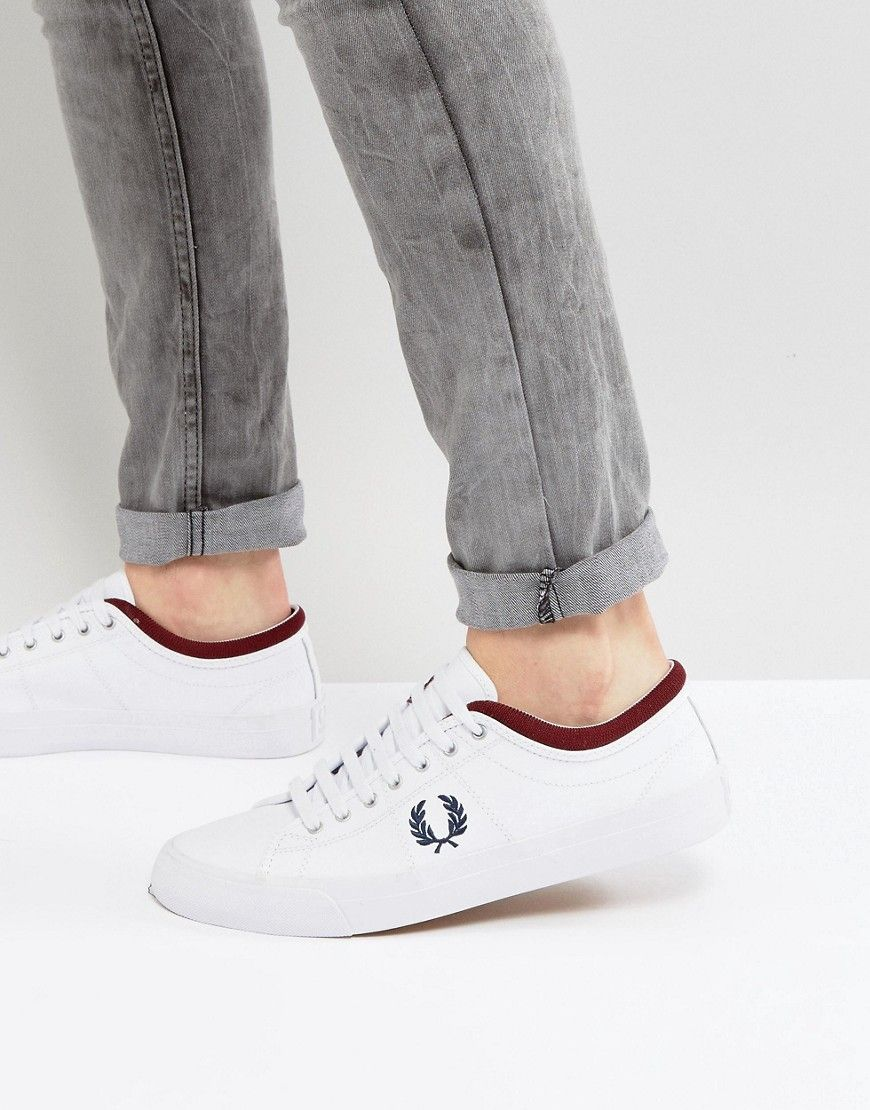 18c980edd7 Fred Perry Kendrick Tipped Cuff Leather Sneakers in White | Sneakers ...