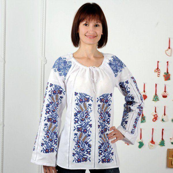Купить вышиванку женскую из домотканого полотна, узор 22 по договорной цене в Днепр, Украина